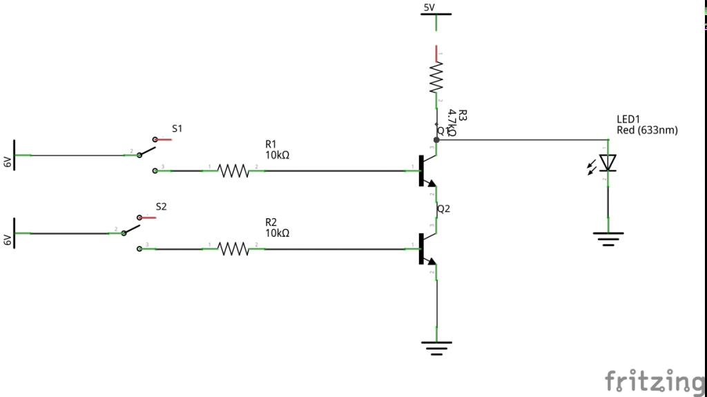 0 -NAND Gate using transistors