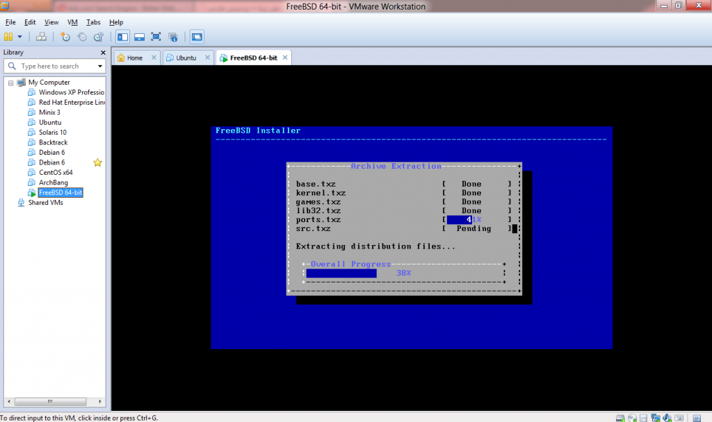 FreeBSD-on-Vmware